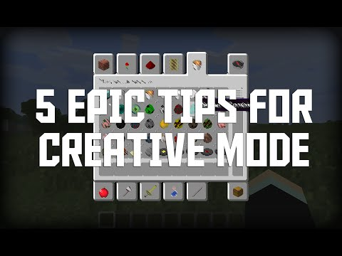 Minecraft: Five Epic Creative Mode Tips! (Minecraft Tips & Tricks)