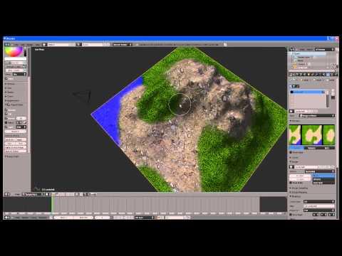 3D Landschaften (mit mehreren Texturen) in Blender erstellen (Clone-Technik) Part 2