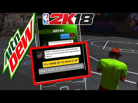 NBA 2K18 TIP - MOUNTAIN DEW HALF COURT GAME OBJECTIVE EASY HACK