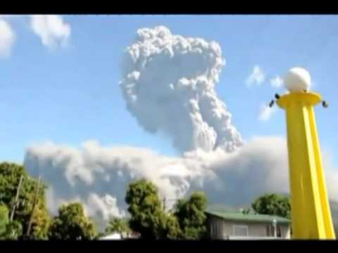 Philippine volcanic eruption.