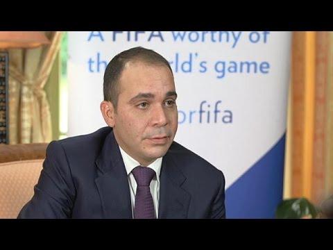 Ο πρίγκιπας Χουσεΐν της Ιορδανίας, υποψήφιος πρόεδρος της FIFA, στο euronews