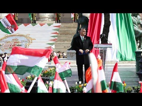 Ungarn: Proteste gegen Ministerpräsident Orban am Nat ...