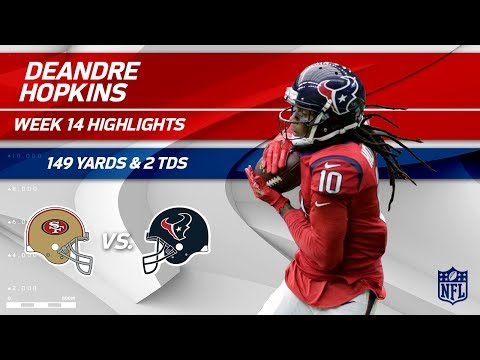 Video: DeAndre Hopkins Explodes w/ 149 Yards & 2 TDs! | 49ers vs. Texans | Wk 14 Player Highlights