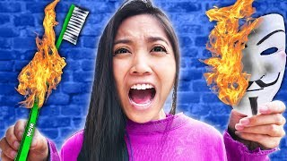 REGINA'S PARENTS HOUSE IS GONE! First To Find Hackers Clues Wins Viral TikTok Life Hacks Challenge