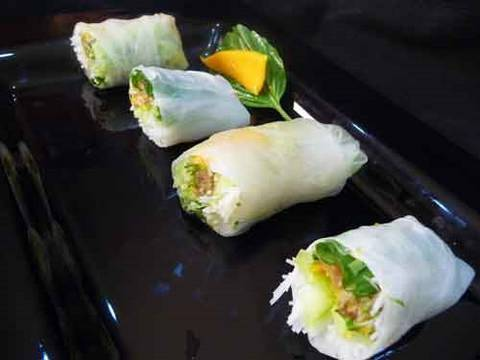 Summer Rolls and Peanut Dipping Sauce - Appetizer Recipe