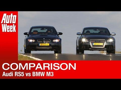 Audi RS5 vs BMW M3 - English subtitled