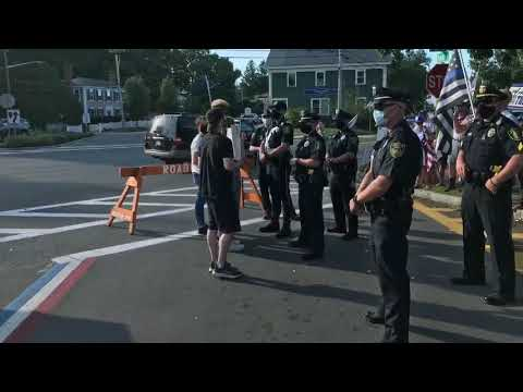 America Backs the Blue rally in Hingham on Friday, July 31st