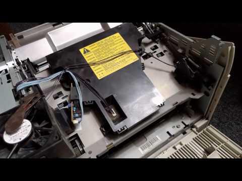 HP LaserJet 4 laser scanner cleaning / removal DIY