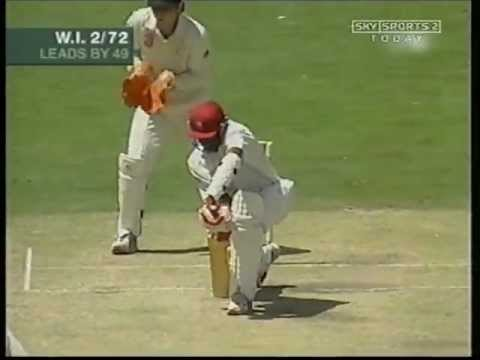 Shane Warne sets up Powell then bowls him round his legs
