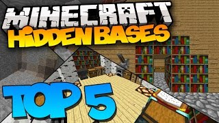 TOP 5 MINECRAFT HIDDEN BASES! - 1.8.1 (Best Secret Bases)