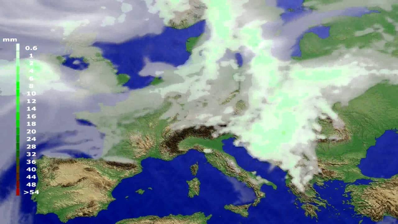 Precipitation forecast Europe 2016-07-24