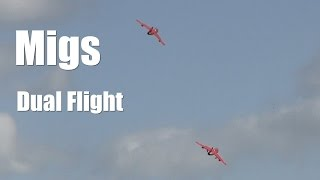 This video is of a dual flight by two RC Jet Turbine Migs at the Temora Jet Meeting held September 2014. Apologies now for the sunlight shadows.