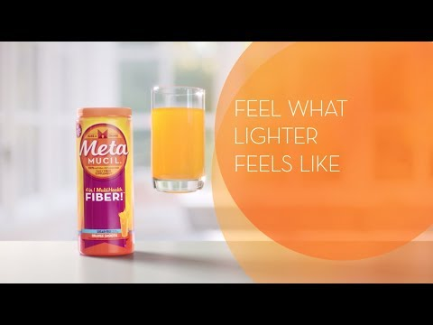 Metamucil Fiber Supplement Helps You Feel Lighter by Trapping & Removing Waste