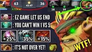 Video 1v5 They Think its Over But, Forgot Bristleback Got Out of Control Most Epic Comeback WTF Dota 2 MP3, 3GP, MP4, WEBM, AVI, FLV Desember 2018