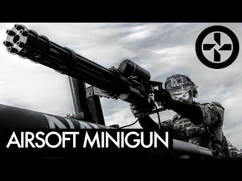 AIRSOFT MINIGUN mounted on Truck - BERGET 14 - Part 1 (видео)