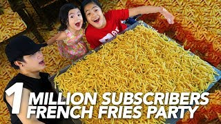 Video 1 MILLION SUBSCRIBERS FRENCH FRIES PARTY | Ranz and Niana MP3, 3GP, MP4, WEBM, AVI, FLV November 2018