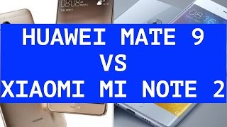 Huawei Mate 9 vs Xiaomi Mi Note 2 ITA
