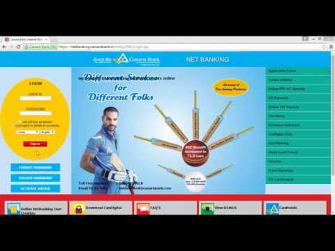 IN – How to login first time Canara Bank Net Banking