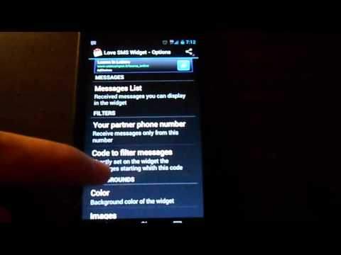 Video of Cute SMS text on screen