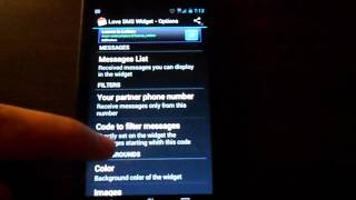 Cute SMS text on screen YouTube video