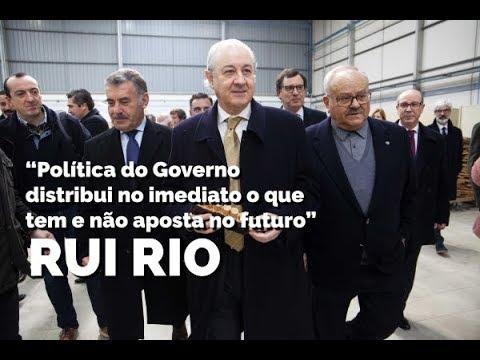 """Rui Rio: """"Política do Governo distribui no imediato o que tem e não aposta no futuro"""""""