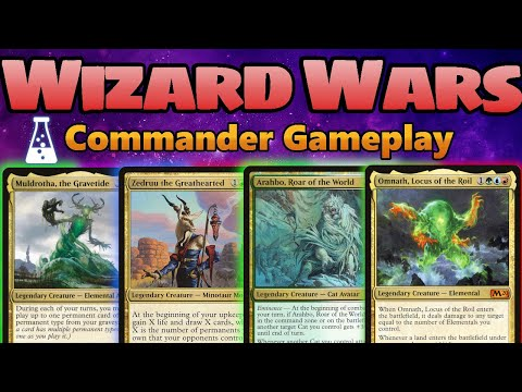 Wizard Wars #4 | EDH Commander Gameplay | January 30th 2020