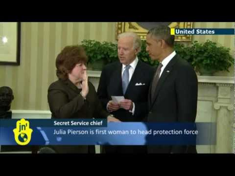 Julia Pierson becomes the first female director of the United States Secret Service