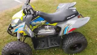 10. Polaris Outlaw 110 - Lime Squeeze Kids Quad