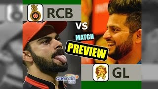 Virat Kohli must inspire his Bangalore team-mates as they face Suresh Raina led Gujarat in the 20th match of the IPL season 10. RCb is struggling to find form ...