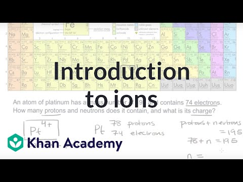Introduction To Ions | Atoms, Compounds, And Ions | Chemistry | Khan Academy