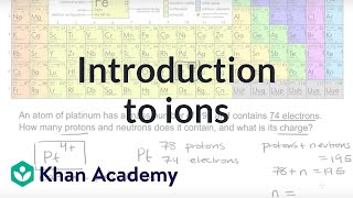 Introduction to ions