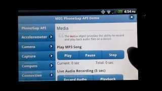 PhoneGap API Demo by MDS YouTube video