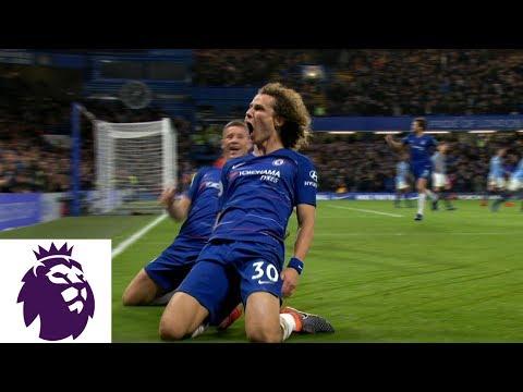 Video: David Luiz's fantastic header doubles Chelsea's lead against Man City   Premier League   NBC Sports