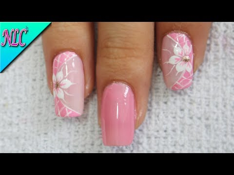 Diseños de uñas - DISEÑO DE UÑAS PRINCIPIANTES FLORES ¡MUY FÁCIL! - FLOWERS NAIL ART - NLC