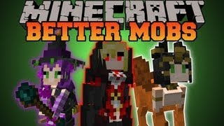 Minecraft : BETTER MOBS! (TONS OF MOBS, MERCHANTS, UNIQUE ITEMS) Grimoire of Gaia 2 Mod Showcase