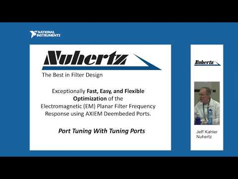 AWR Connected: Nuhertz Planar Filter Frequency Response