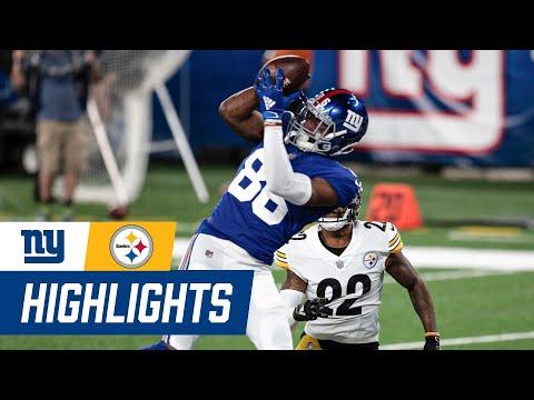 Giants vs. Steelers Week 1 Highlights: Daniel Jones, Darius Slayton Touchdowns | New York Giants
