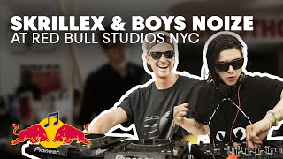 Skrillex & Boys Noize Collaborate in the Red Bull Studios NYC