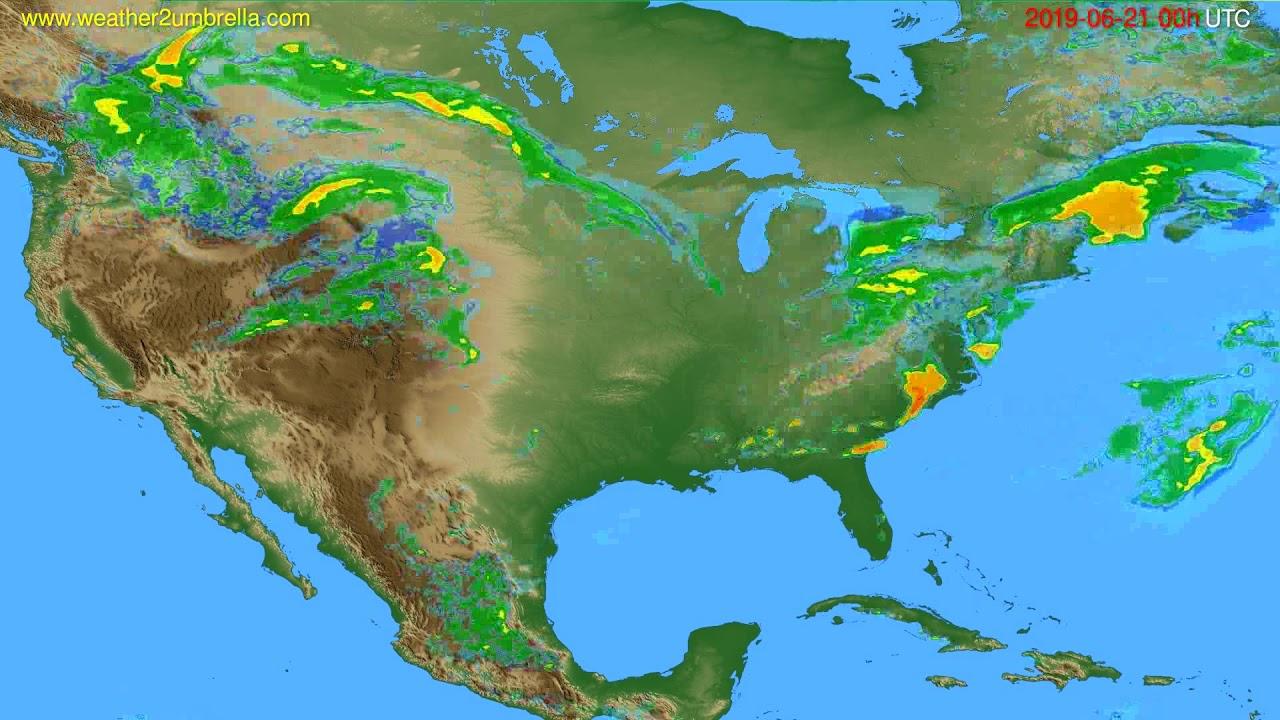 Radar forecast USA & Canada // modelrun: 12h UTC 2019-06-20