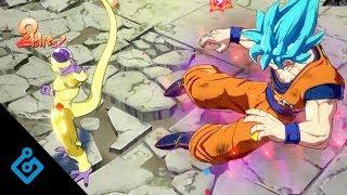 New Dragon Ball FighterZ Gameplay - Super Saiyan Gods On World Tournament Stage