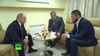 Video Putin meets and congratulates Khabib on UFC 229 win over McGregor MP3, 3GP, MP4, WEBM, AVI, FLV Februari 2019