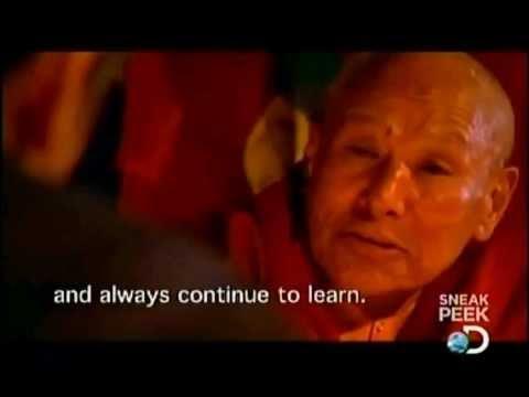 levitazione di monaco buddista