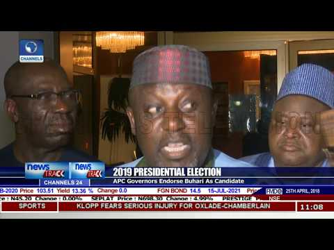 2019 Election: All 24 APC Governors Endorse President Buhari As Candidate