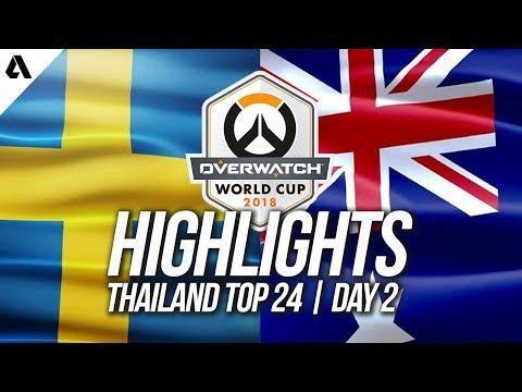 Australia vs Sweden | Overwatch World Cup 2018 Thailand Qualifier Day 2