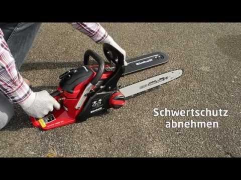 Start-Anleitung Benzin-Kettensäge GH-PC 1535 TC