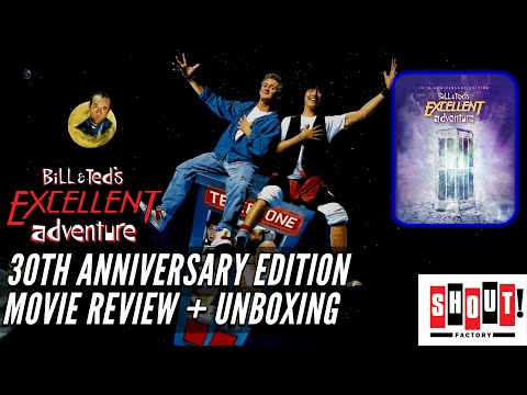 Bill & Ted's Excellent Adventure - 30th Anniversary Edition - Blu ray Movie Review + unboxing
