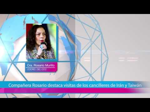 Compañera Rosario destaca visitas de los cancilleres de Irán y Taiwánd