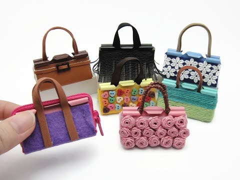 7 DIY Miniature Binder Clip Barbie Mini Bags - Easy!