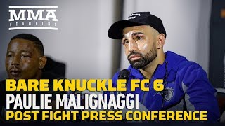 BKFC 6: Paulie Malignaggi Post-Fight Press Conference - MMA Fighting by MMA Fighting
