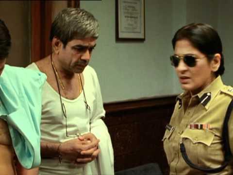 MBPA - Comedy Scene - Om Puri - Paresh Rawal - Archana Puran - Madhav Strips In Front Of Bhavani